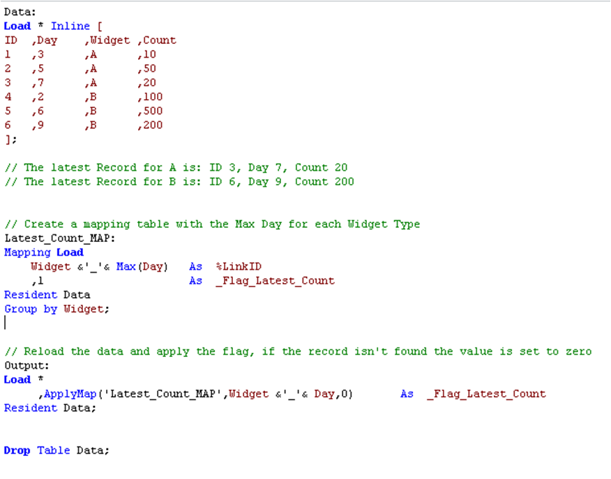 Flag Latest Record Using Qlikview Script Qlikcentral