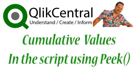 Cumulative Values In the Script Using Peek