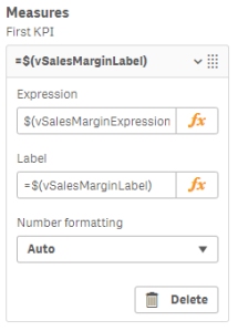 Qlik Master Measure Variable